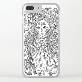 Young Shiva Clear iPhone Case