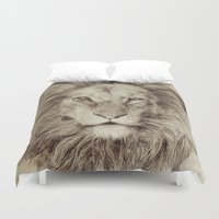 leo Duvet Covers featuring Leo by Eric Fan