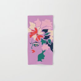 Face in Florals Hand & Bath Towel