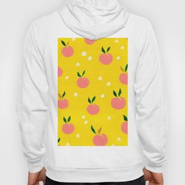 Peaches pattern Hoody