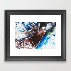Deer - Valentine - animal by LiliFlore Framed Art Print