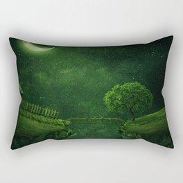 countryside crescent moon Rectangular Pillow
