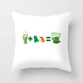 St Patricks Day Beer PLus Ireland Equals St Patricks Day Throw Pillow