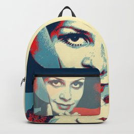 """Twiggy Pop Stencil Portrait"" Backpack"