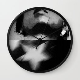commie in bw Wall Clock