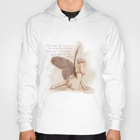 angel wings Hoodies featuring Angel by chiaratexx