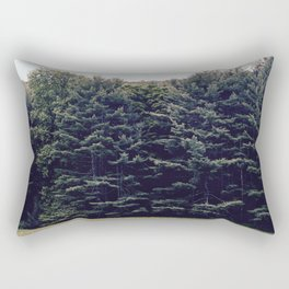 Into the Green Rectangular Pillow