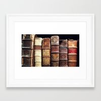 library Framed Art Prints featuring Library by Mad Marys