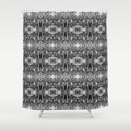 Black n White Boho Pattern Shower Curtain
