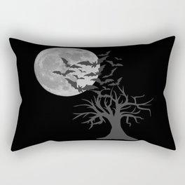 Creepy tree with bats, Halloween, scary motif, Halloween party Rectangular Pillow