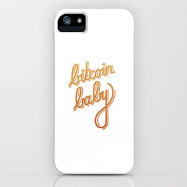 bitcoin baby   [color] iPhone Case