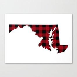 Maryland - Buffalo Plaid Canvas Print