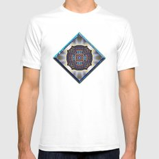 Garden of Illusion Mens Fitted Tee SMALL White