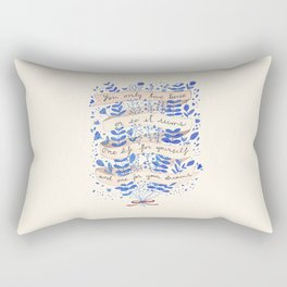You only live twice Rectangular Pillow