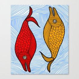 Cute Fish in the Sea Canvas Print