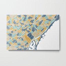 Barcelona map Metal Print