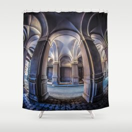 Postcards from Poland Shower Curtain