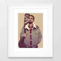 90s Framed Art Prints featuring 80/90s - K. Dr by Mike Wrobel