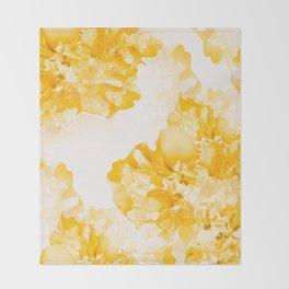 Beautiful Peony Flowers White Background #decor #society6 #buyart Throw Blanket