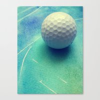 golf Canvas Prints featuring GOLF by Yilan