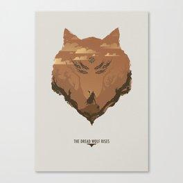 The Dread Wolf Rises Canvas Print