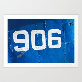 906 blue Art Print