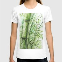 bamboo T-shirts featuring Bamboo by rchaem