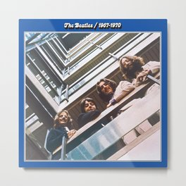 1967 - 1970 The Blue Album by The Fab Four Metal Print