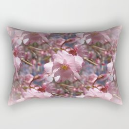 Perfect - Pink Cherry Blossom Rectangular Pillow