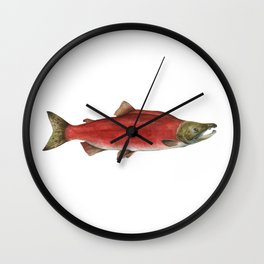 Sockeye Salmon Wall Clock