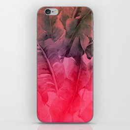 Summer Pink Tropical Palms iPhone Skin