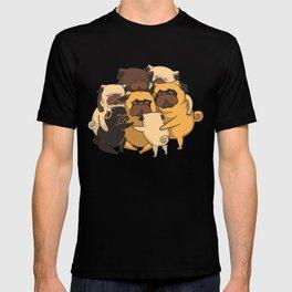 Pugs Group Hug T-shirt