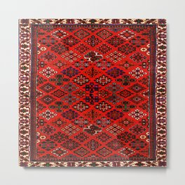 -A30- Red Epic Traditional Moroccan Carpet Design. Metal Print