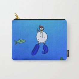 Eglantine la poule (the hen) is diving. Carry-All Pouch