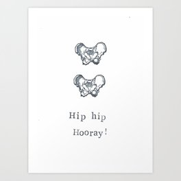 Hip Hip Hooray Art Print