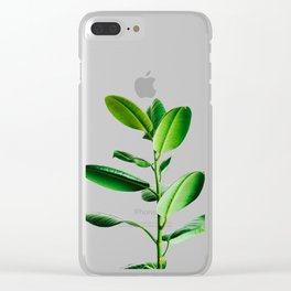 Greenery (Color) Clear iPhone Case