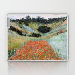 Poppy Field in a Hollow near Giverny by Claude Monet Laptop & iPad Skin