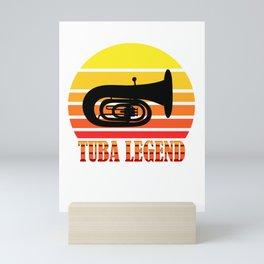 tuba evolution brass brass music musician Mini Art Print