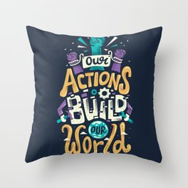 Build Our World Throw Pillow