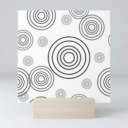 Circles within Circle  1 - White Mini Art Print