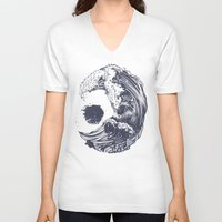 ink V-neck T-shirts featuring Swell by Huebucket
