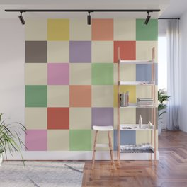 Colorful Checkered Pattern Wall Mural