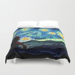 Special Man in Starry Night Duvet Cover