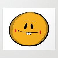 Buck Tooth Smiley Art Print