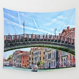 Ponte dell' Accademia Bridge In Venice, Italy Wall Tapestry