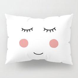 Cute hand drawn face Pillow Sham