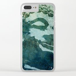 Tinted Texture Buddha I Clear iPhone Case