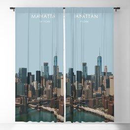Manhattan Skyline, New York Travel Artwork Blackout Curtain