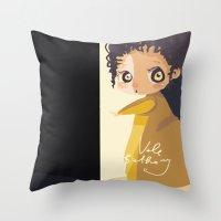 mini Throw Pillows featuring Mini by Vale Bathory