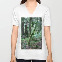 dr seuss V-neck T-shirts featuring Dr. Seuss Tree by shamik
